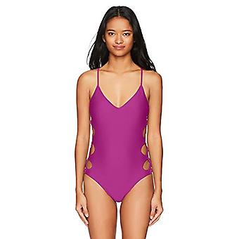 Body Glove Women's Smoothies Crissy Solid One Piece Swimsuit with Strappy Sid...