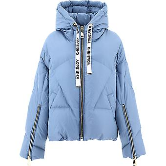 Khrisjoy Afpw001tl43 Femmes-apos;s Light Blue Polyester Down Jacket