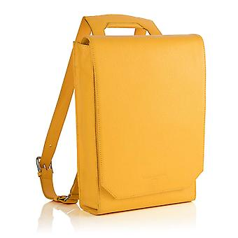 Lilly Leather Laptop Backpack in Aztec Yellow Richmond Chrome Free Leather