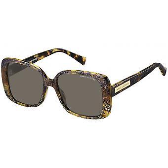Sunglasses Women Rectangular Havana Glitter