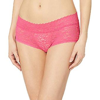 Essentials Women's 4-Pack Lace Stretch Hipster Panty, Blauw & Roze, XXL