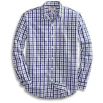 Goodthreads Män & apos; s Standard-Fit långärmad Gingham Plaid Poplin Shirt, Blå / G...