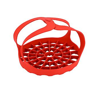Silicone Autoclave Steaming Rack for Kitchen Red