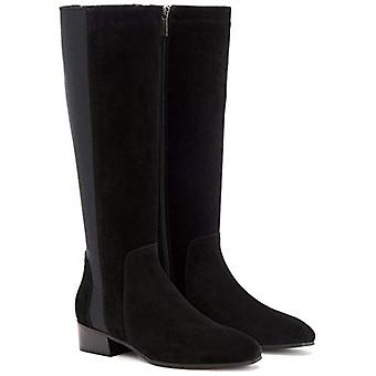 Aquatalia Women's Shoes Flore Suede Almond Toe Knee High Fashion Boots