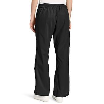 WonderWink Women's Scrubs Romeo 6 Pocket Flare Leg Pant, Black, Medium/Petite