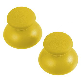 Replacement analog rubber convex thumbsticks for sony ps3 controllers - 2 pack yellow
