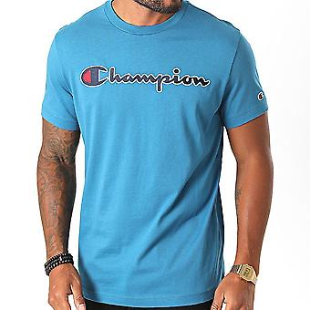 Champion Script Logo Tee 214726BS092 universal all year men t-shirt
