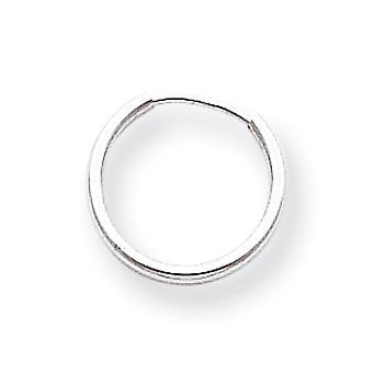 14k לבן זהב הולו מלוטש חישוק אינסופי עגילים מדדים 12x12mm תכשיטים מתנות לנשים