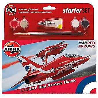 Airfix Medium Starter Set - Raf Red Arrows Hawk