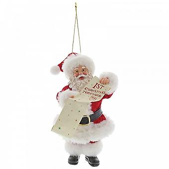Department 56 Santa First Christmas Together Hanging Ornament