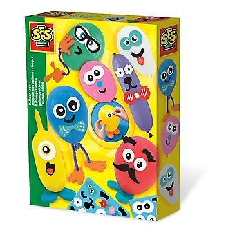 SES Creative Balloon Faces Unisex Ages Five to Twelve Years Multi-colour (14016)