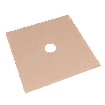 4Pcs Brown Gas Range Stove Top Burner Protector Liner Clean Mat 270x0.2mm