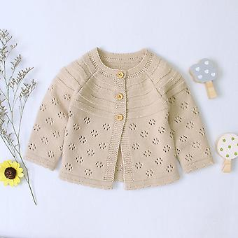 Autumn Winter Kids Sweaters - Baby Solid Cotton Sweater / Jacket