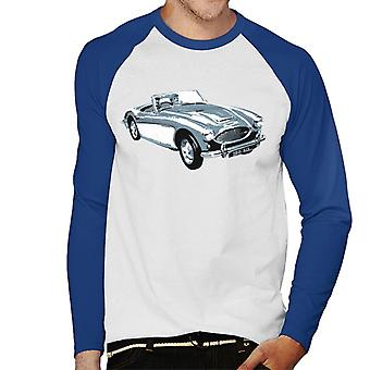 Austin Healey 100 Six British Motor Heritage Men's Baseball Long Sleeved T-Shirt