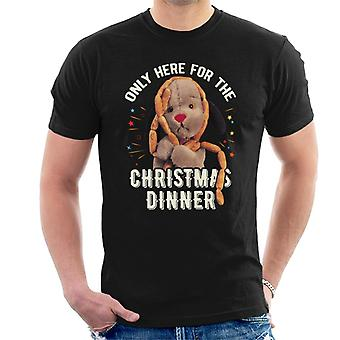 Sooty Christmas Sweep Only Here For The Christmas Dinner Men's T-Shirt