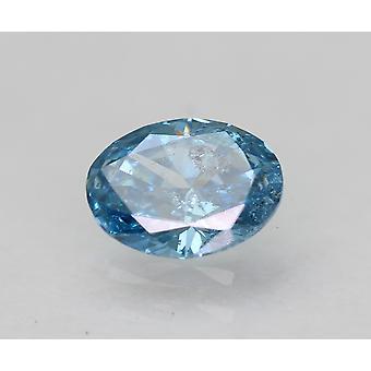 Cert 0.33 Carat Sky Blue SI1 Ovale Amélioré Natural Loose Diamond 5.34x4.06mm 2VG