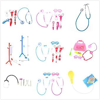 Stéthoscope Pretend, Play Doctor Nurse Toy Set, Portable Suitcase Medical Kit