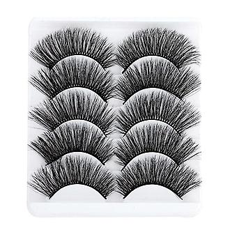 5d Soft Mink Hair False, Wispy Fluffy Long Eyelashes- Eye Makeup Tools