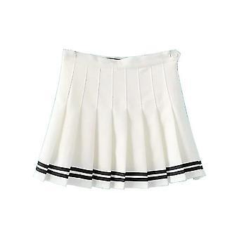 Kvinnor & apos; s hög midja casual veckad tennis stil mini skater kjol