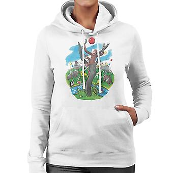 Curious George In A Tree At The Zoo Women's Hooded Sweatshirt