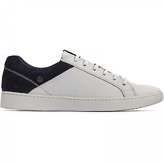 Base London Crew Mens Leather Trainers White/navy
