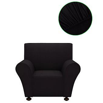 vidaXL Sofahusse Stretchhusse Sofa غطاء أسود البوليستر جيرسي