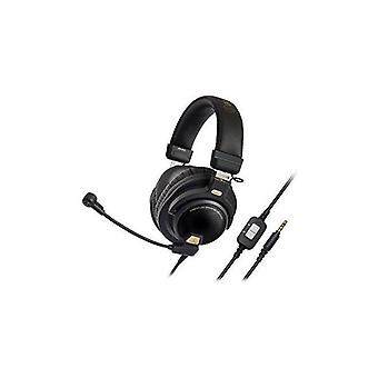 Audio-technica ath-pg1 closed-back premium gaming headset with 6 boom microphone