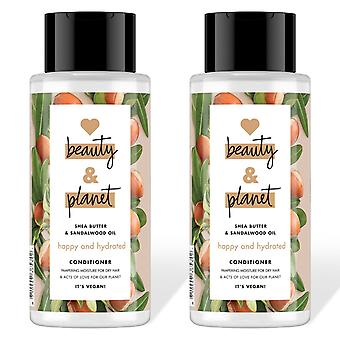 Love Beauty And Planet Happy And Hydrate Conditioner, 2 Packs of 400ml