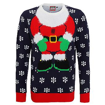 Christmas Shop Mens 3D Santa Knitted Jumper