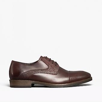 هش الجراء ديربي Mens جلد عادي أحذية الاحذية براون