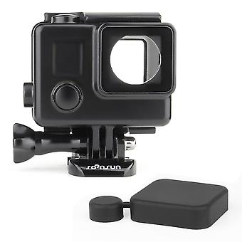 Soonsun blackout standard housing case with lcd touch backdoor for gopro hero 4 3+ 3 black silver ac