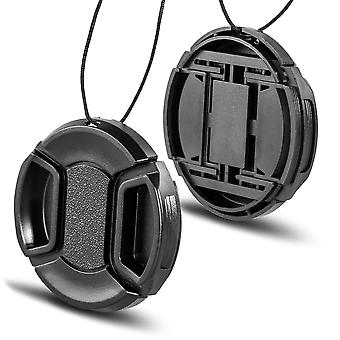 Phot-r 37mm centre pinch lens cap with safety cord, protective snap-on cover for canon, nikon & sony