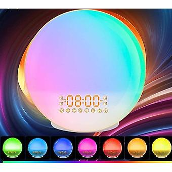Smart Voice Colorful Light Alarm Clock Led Night Light