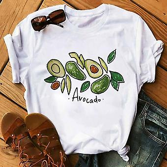 Kawaii Cartoon Avocado Short Sleeve T-shirt