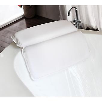 Bath Pillow - Luxury Comfortable Non-slip Spa Hot Tub Bath Pillow - White - Bath Accessories