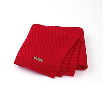 Couverture et emmaillotage nouveau-nés, tricot de couleur solide de toison douce thermique