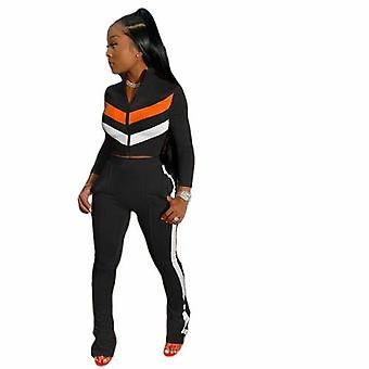 Ensemble d'appariement sportif Pour femmes Full Sleeve Crop Top Leggings
