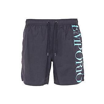 Emporio Armani Sustainable Black Swim Shorts