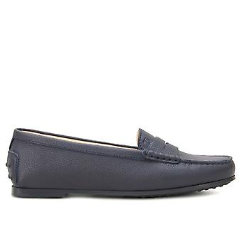 Moccasic Woman City Rubber Tod&s Blue Leather
