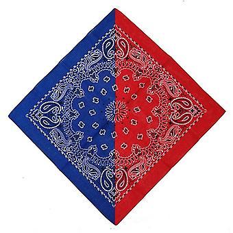 Double Color Block 50x50cm Unisex Cotton Pocket Square Sjaal/hoofdband Bandana
