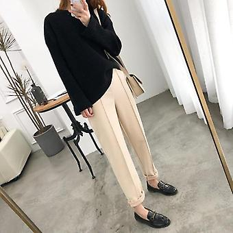 Women Pencil Spring Winter  Ol Style Wool Female Work Suit Pant