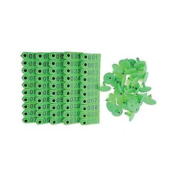 100 Pcs Cattle Ear Livestock Numeradas Mini Tags Verdes