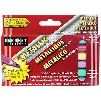 Liquid Metals Metallic Marker Pack, Med Tip, 6 Colors