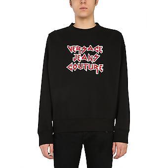 Versace Jeans Couture B7gwa73813988899 Heren's Zwart Katoen Sweatshirt