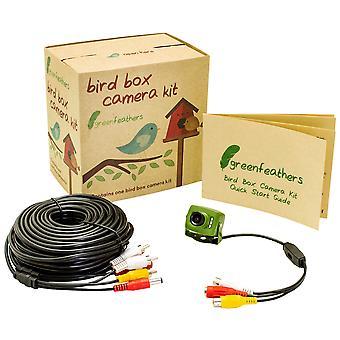 Plumas verdes vida silvestre 700tvl cableado cámara de caja de pájaros con visión nocturna 940nm infrarrojo invisible, inc