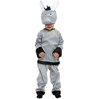 Fantasia de burro infantil - pequeno burro de 4 a 6 anos