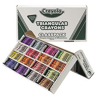 Paquete triangular Crayon Classpack, 16 Colores, 256 Conde