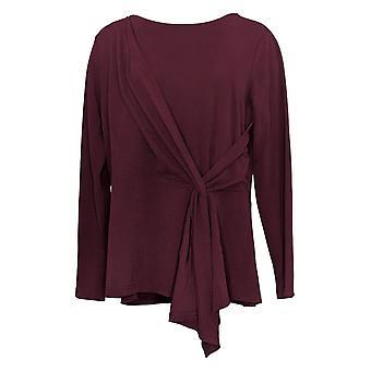 Belle By Kim Gravel Women's Top Twist Waist Asymmetric Knit Purple A370350