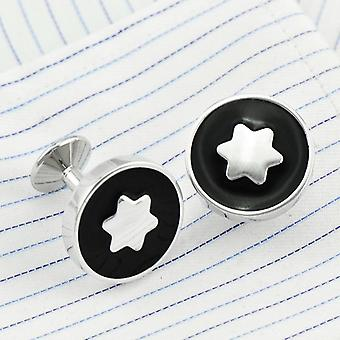 Shirt Cufflinks, Brand Cuff Buttons, Star, Flower, Round Wedding Jewelry (18mm)