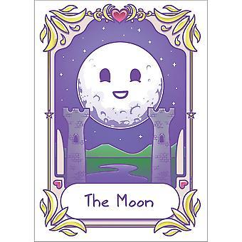 Dödlig tarot Kawaii månen affisch